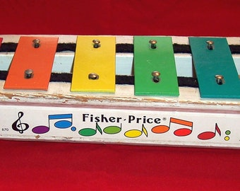 Vintage Fisher Price Xylophone pull along toy