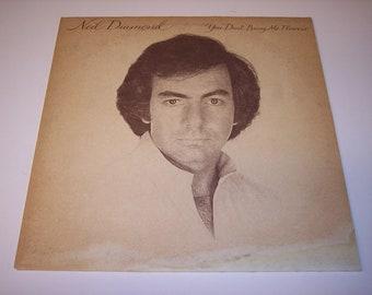 Vintage Neil Diamond, You Don't Bring Me Flowers LP vinyl record