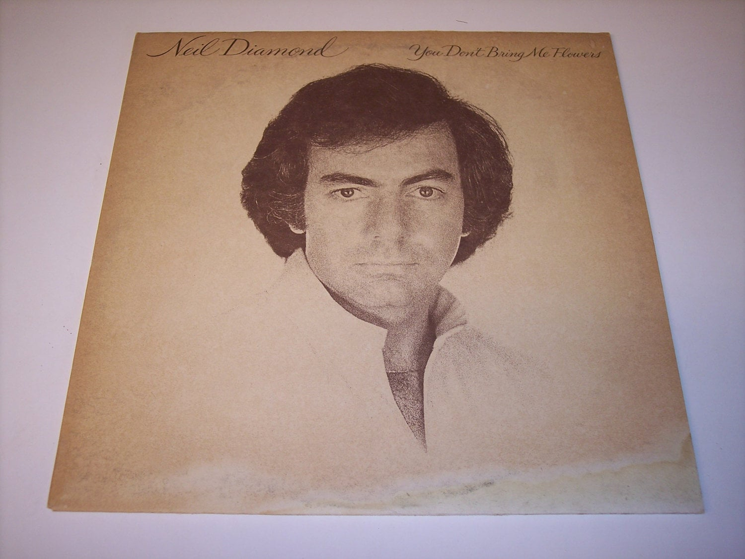 Vintage Neil Diamond You Don t Bring Me Flowers LP vinyl