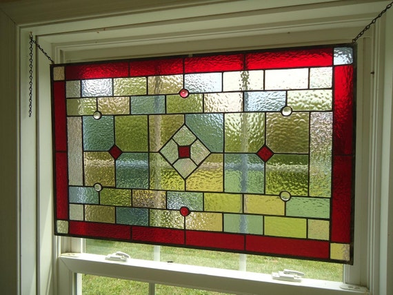 Items Similar To Tiffany Styled Stained Glass Window Panel