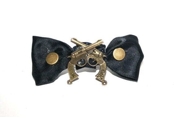 Golden Revolver Hair Clip