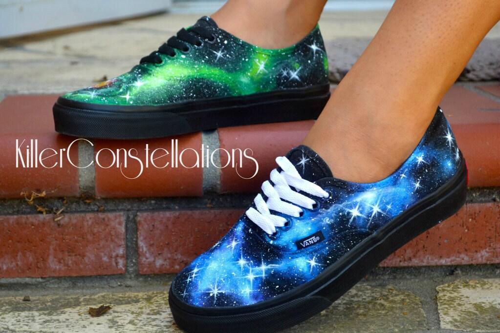 Custom Painted Galaxy/Nebula Shoes