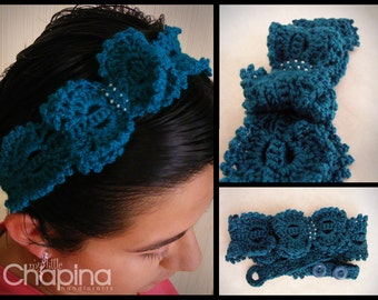 Queen Anne Lace Headband with Bow (Made to Order)