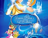 Cinderella Invitation Digital File 4X6 or 5X7