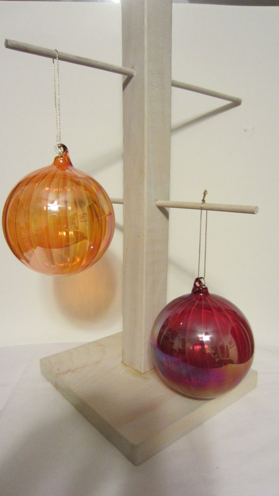 Extra large blown glass christmas balls by shoreantiques