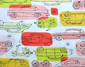 CLEARANCE - Havana by Monaluna -On The Go Red - 1 Yard - Quilting Weight Organic Cotton Fabric
