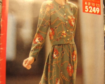 Butterick 5249 uncut size 8, 10 and 12 womens ladies sewing pattern