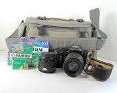 Nikon N4004 Film Camera with AF Nikkor 35-70 lens and AF Nikkor 70-210 lens Working Camera