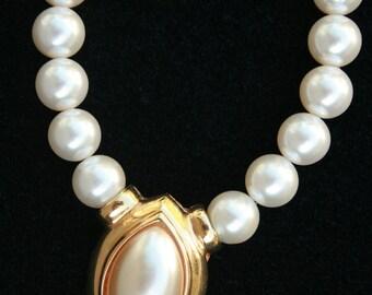 Napier Faux Pearl Necklace Vintage Wedding Special Occasion Spring