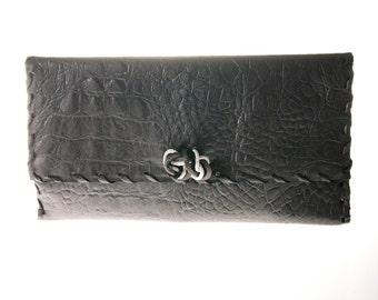 grey leather clutch bag, purse, handbag, evening clutch bag, women clutch bag