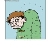 Melancholy Greetings - Funny Quasimodo greeting card (blank inside)
