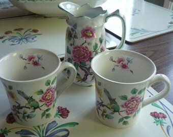 Gorgeous James Kent Old Foley Chinese Flower Pitcher