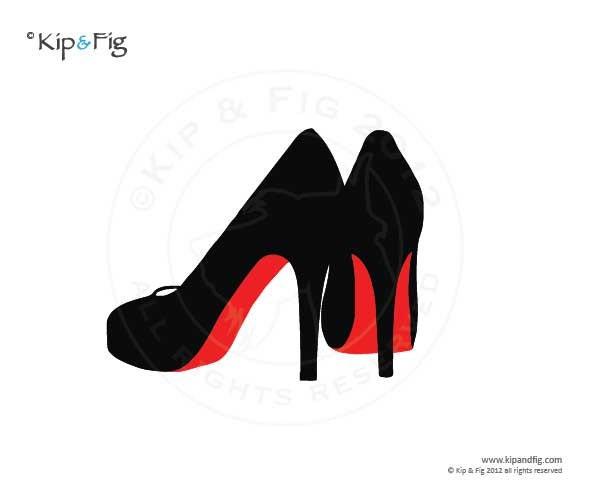 stiletto shoes applique template pdf applique pattern