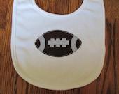 Football Baby Bib Ready to Ship