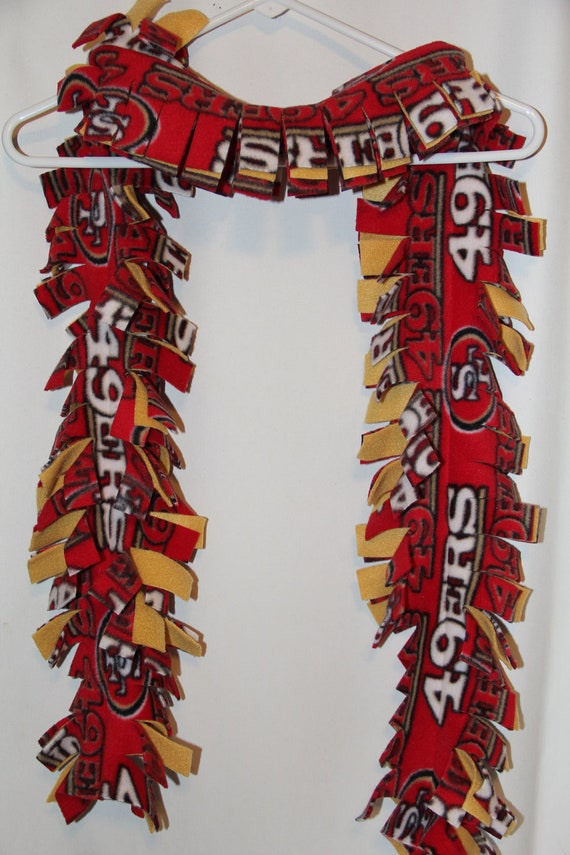 nfl san francisco 49ers scarf fleece by terrymadeetsy on etsy