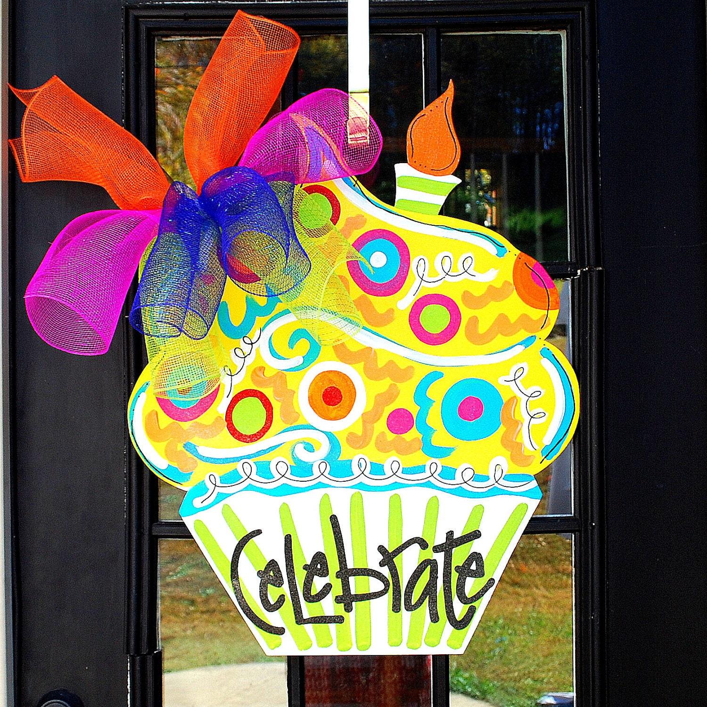 Happy birthday sign birthday door decor happy birthday door for Sign decoration