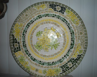 """SOLD ** MOSAIC TABLE Top / 30"""" Round / I Can Custom Make One For You!! **"""