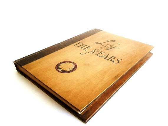 RESERVED for Joe: Vintage Wooden Photo Album. Journal. Scrapbook. Log of The Years by Stanley Abbot