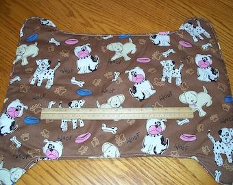 LARGER DOG DISH Mats - In the Shape of a Dog Bone