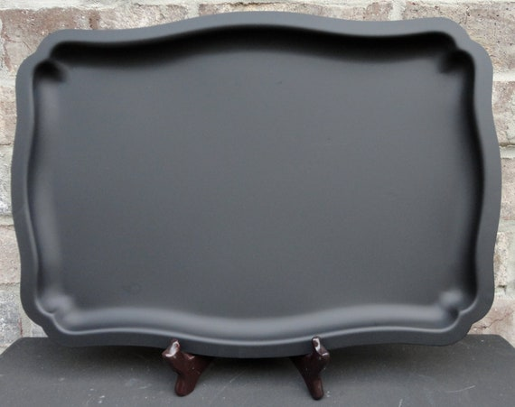 Decorative Silverplate Magnetic Chalkboard 16x11 Tray - Memo Board -  Bedroom, Kitchen, Office, Wedding Sign, Wedding Decor, Kitchen Sign