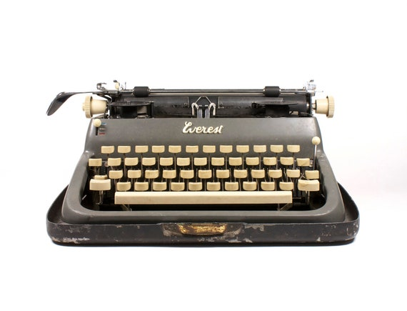 SALE - Vintage grey typewriter (was 239)