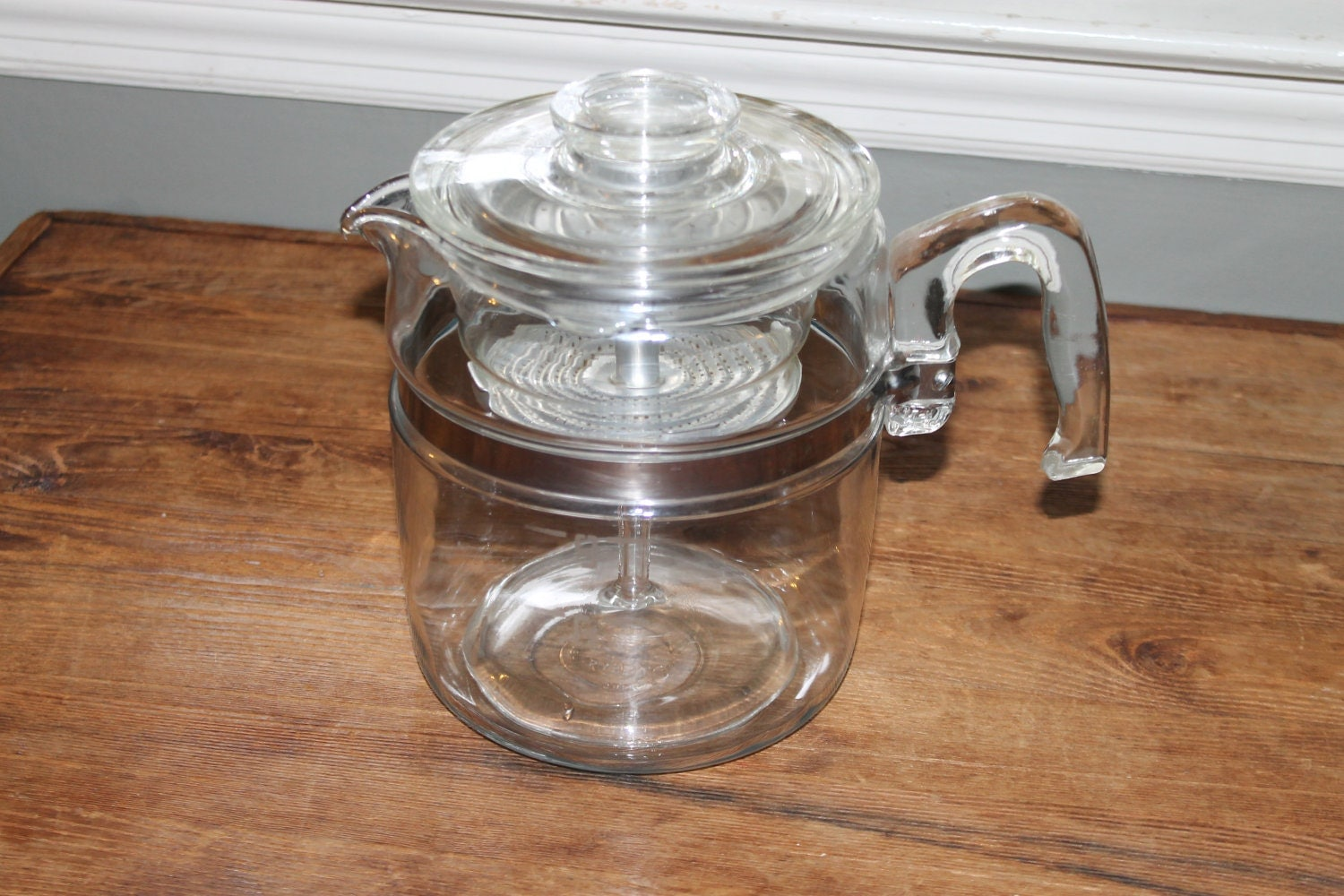 Pyrex Coffee Maker How To Use : Vintage Pyrex Percolator Coffee Pot 7759 9 Cup Stove Top
