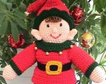 Christmas CROCHET PATTERN PDF Easy Santa Elf Doll Ernie Elf
