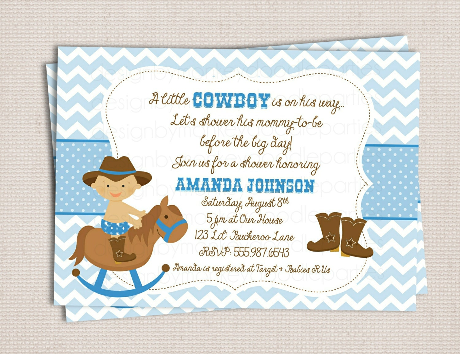 Baby Shower Cowboy Invitations for amazing invitation template