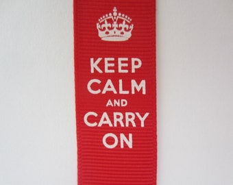 Keep Calm and Carry On Ribbon 1 Metre