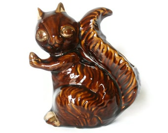Vintage Squirrel Planter