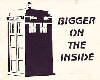 Wood picture - Tardis - Dr. Who