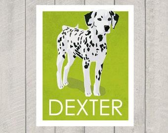 Dalmatian Art Print - Custom Dog Art