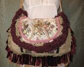 Crossbody Floral bags and Purses, Gypsy Purse Bohemian Carpetbag Hip Purse
