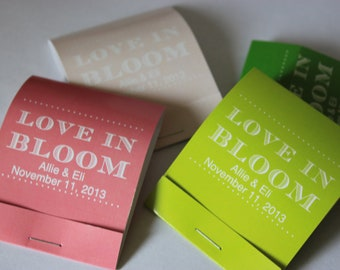 25 Seed Matchbooks - Love in Bloom Wedding Favors of Forget Me Not Seeds