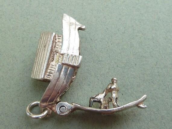 Nuvo mechanical vintage Sterling Silver Charm   NOAHS ARK opens animals Bracelet charm Pendant