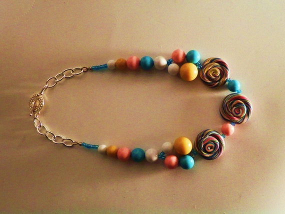 Gumballs and Lollipops Choker Necklace