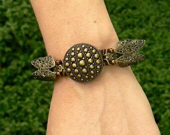 Steampunk Cicada Zipper Bracelet - Zipper Cuff - Steampunk Jewelry