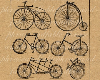 Bicycles 126 Riding Cycle Cycling Courier Vintage Antique Spoke Wheel Trail Race Seat Digital Download Unicycle