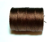 Brown C-Lon Bead Cord, 1 Bobbin of 92 Yards - Item 922