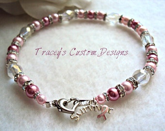 Breast Cancer Survivor Anklet - Custom made just for you.