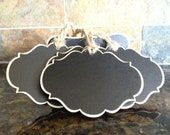 16 Tags plus 4 Chalk Ink Pens Beautiful Oval Chalkboard Tags for Wedding Gifts, Buffet Stands