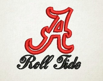 Alabama Applique Embroidery Design (1) Instant Download