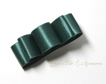 Satin Green hair bow