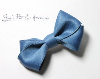 Children hair clip - blue hair bow