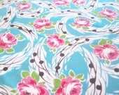 Vintage 40's Floral Swirls and Roses Fabric