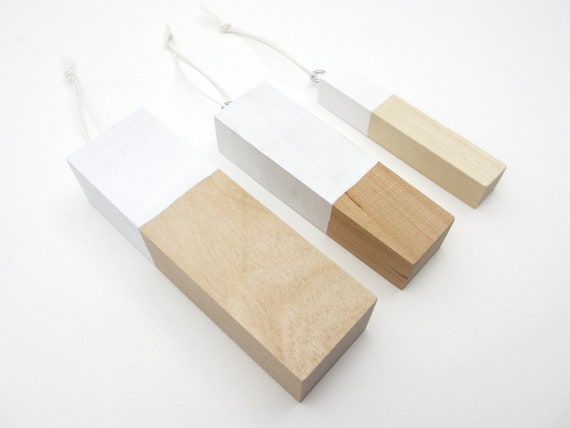 Items similar to modern wood ornaments scandinavian home for Contemporary ornaments for the home