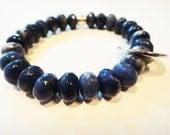 Lapis Lazuli womens healing crystal bracelet: metaphysical, beaded, zen, yoga, new age, Buddhist inspired
