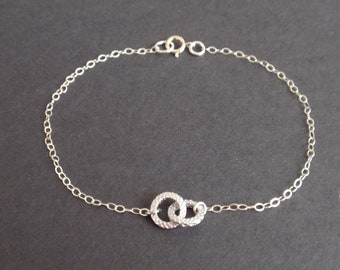 Tiny Infinity Sterling Silver bracelet-simple everyday jewelry