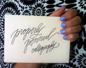 Envelope Calligraphy - Custom order for amyphillips