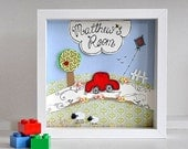 SOLD, but available on order - Personalized nursery art
